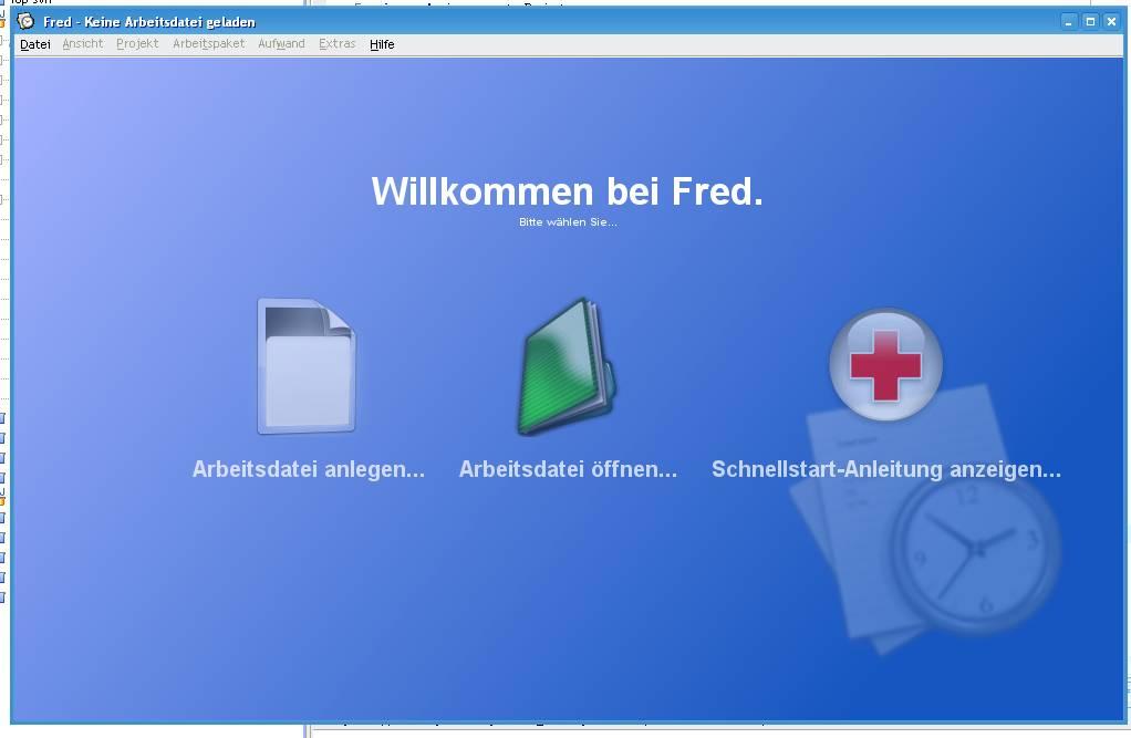 Fred - Startscreen
