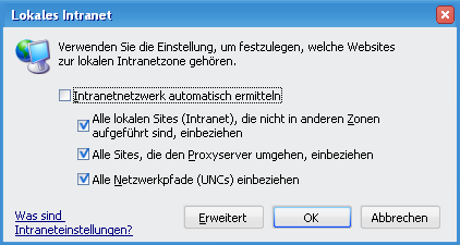 intranet-einstellungen