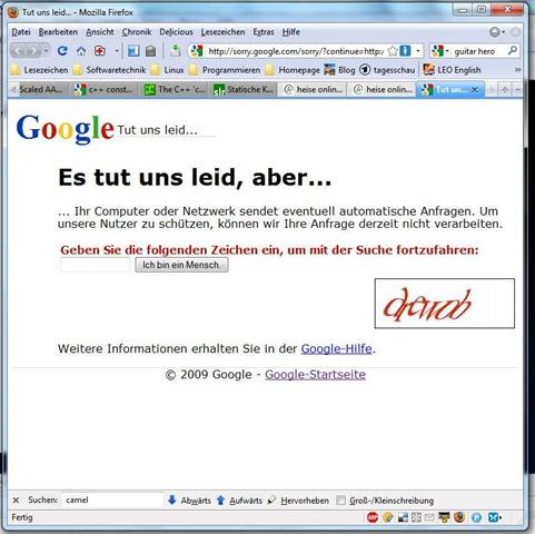 google-sorry