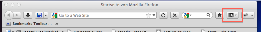 Bookmarks button appeared in Firefox' main toolbar