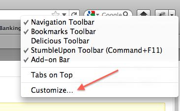 Customizing Firefox' toolbar