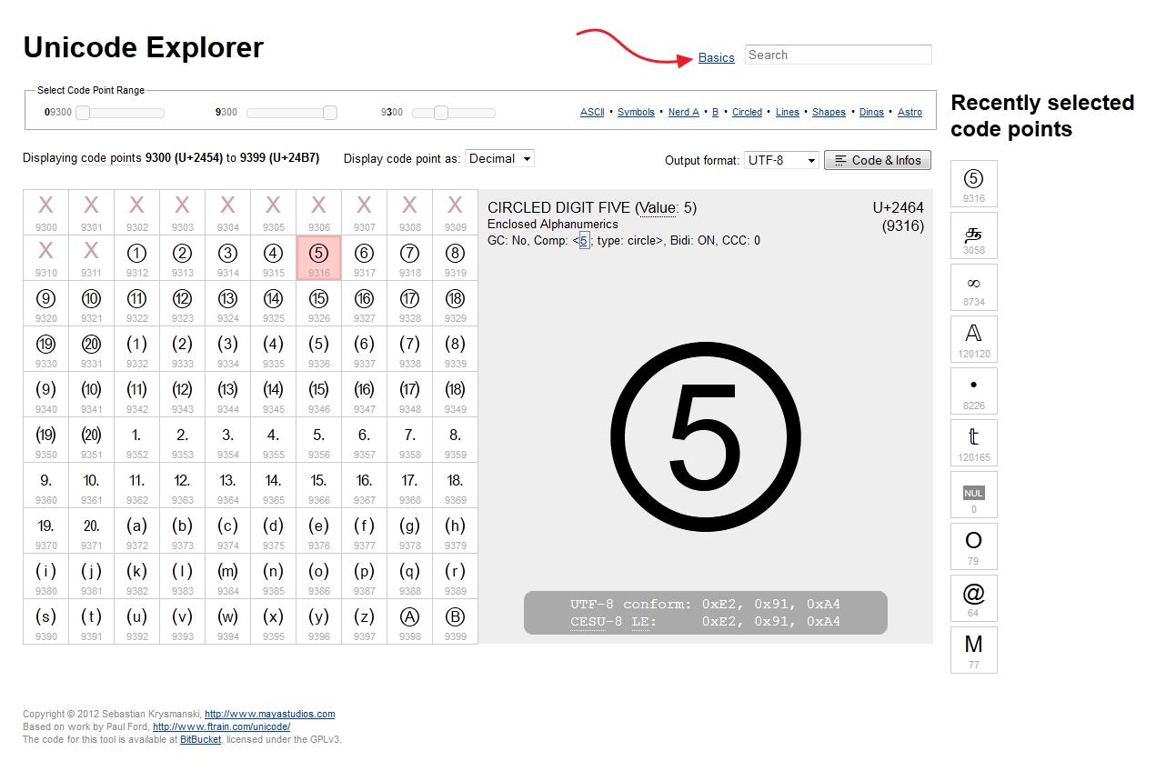 MayaStudios Unicode Explorer