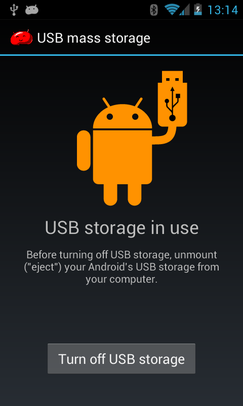 USB mass storage on Android